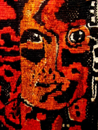 "Detalj ""Eurydikekören 2015"" gobelin"